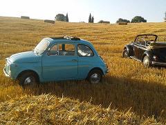 Private Classic Fiat 500 and Wine tour