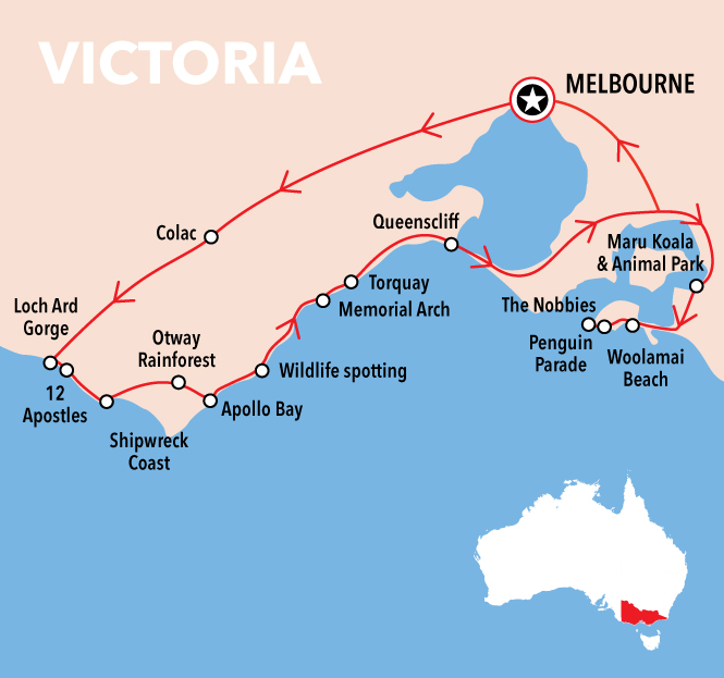 Autopia Tours: Great Ocean Road to Phillip Island 2 Day - Basic Dormitory Share