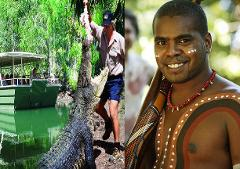 GTS: CROCS, CREATURES & CULTURE / Hartley's Zoo, Tjapukai (w/Buffet) and Cairns Aquarium Combo (CAIRNS HOTELS ONLY)