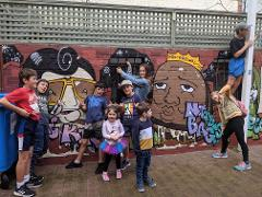School Holiday 1.5hr Street Art & Sculpture Tour