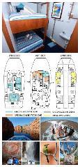 King Single Internal Bunk Cabin on the Main Deck - Cabin 24 - Kimberley 13 Night Adventure Tour - Wyndham to Broome