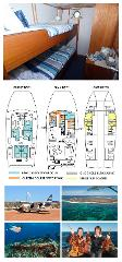Single Bunk Cabin on the Lower Deck - Twin Share - Abrolhos Islands 5 Day Tour - Fly out & Fly back