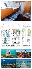 Single Bunk Cabin on the Lower Deck - Twin Share - Abrolhos Islands 5 Day Tour - Boat out & back