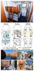 King Single Bunk Cabin on the Main Deck - Kimberley 13 Night Adventure Tour - Broome to Darwin