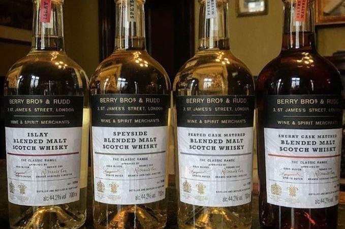 Berry Bros. & Rudd blended whiskies tasting