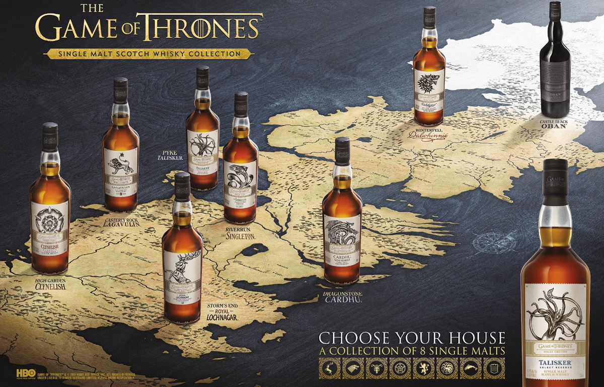 The Game of Thrones Single Malt Tasting