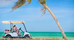 AMI Street Legal 4 Passenger Golf Cart Rental - Hourly