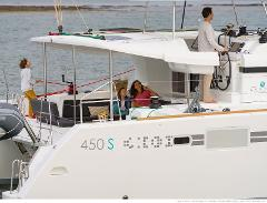 "Sail: Lagoon 450 Sport Top Catamaran ""Indigo Blue"" - Half-Day Charter Up to 12 People"
