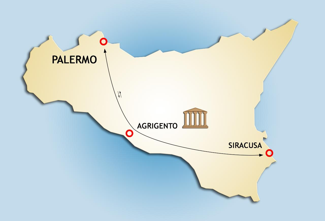 Private Transfer Tour from Palermo to Syracuse: stopover at the Temples Valley