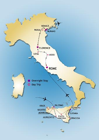Italy and  Sicily Grand Tour