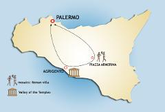 Full Day Regular Tour to Piazza Armerina and Agrigento from Palermo