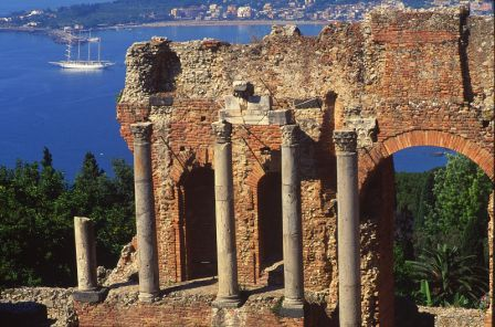 Taormina on your own - from Messina Port