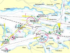 Mörkernavigering från Vaxholm till Kastellholmen 5 sept kl 20-23