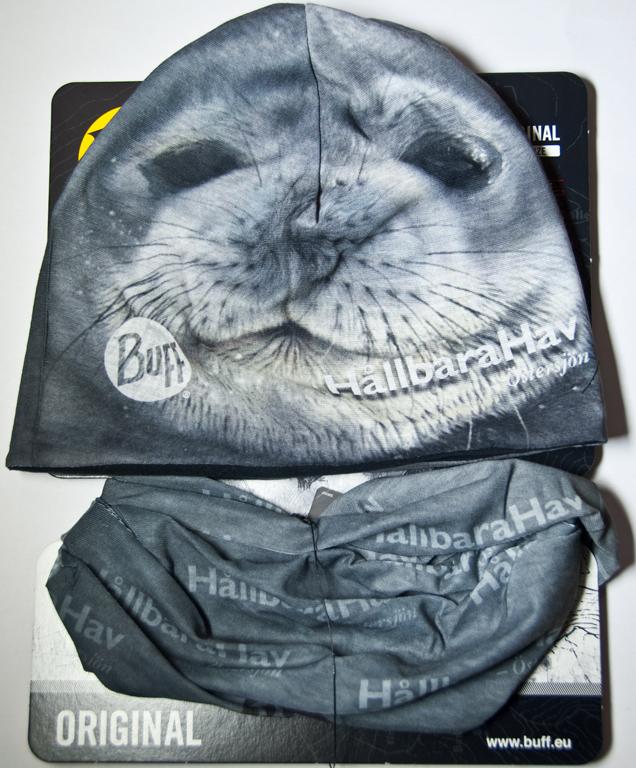 Original Buff® och mössa med sälmotiv