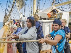 Middagskryssning, Lär dig segla råtacklat. Nybörjarkurs i konsten att segla en brigg Nyköping 19 maj kl 17-21