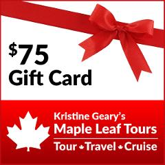 Maple Leaf Tours $75 Gift Card