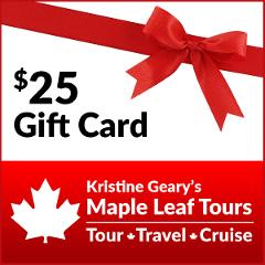 Maple Leaf Tours $25 Gift Card