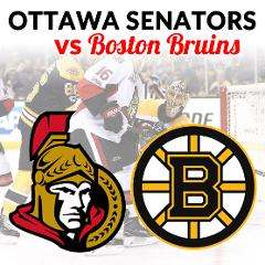 Ottawa Senators vs Boston Bruins