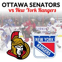 Ottawa Senators vs New York Rangers