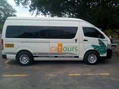 Private Transfer Tamarindo Beach Area to Liberia Airport for 5 to 8 passengers .