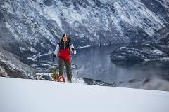 Topptur til Mefjellet (Snowshoe hike to Peak Mefjellet)