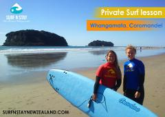 Private surf lesson with female coach