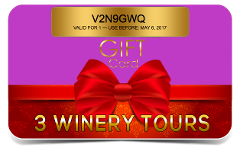 FLWT GIFT CERTIFICATE - 3 Winery Tour