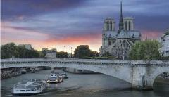 Paris by Night in a small group: Cruise + City Tour