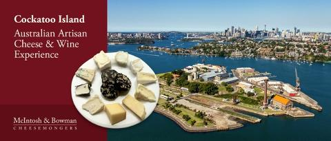 The Australian Artisan Cheese & Wine Experience on Cockatoo Island
