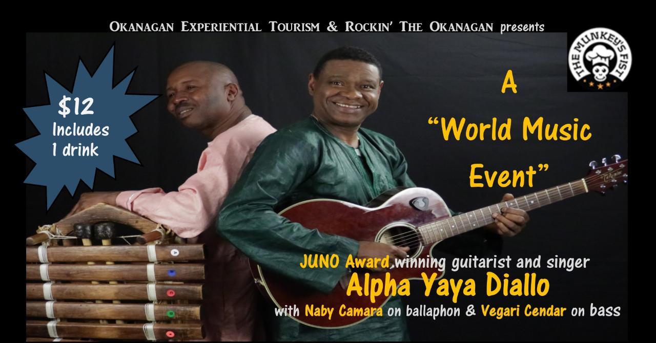 WORLD MUSIC EVENT - Alpha Yaya Diallo Trio