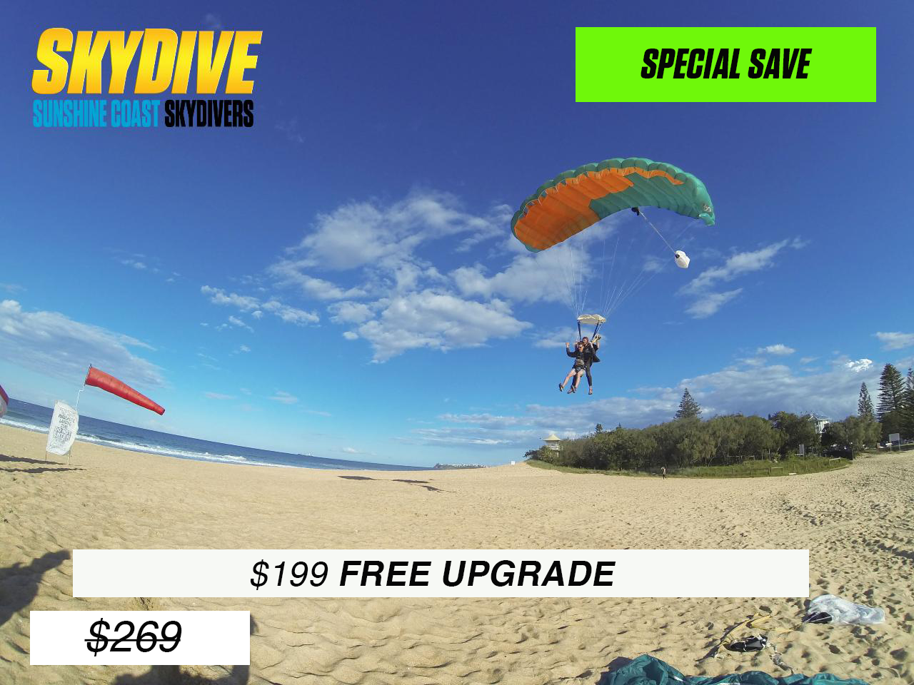 Tandem Skydive - Noosa Transfers
