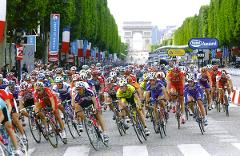 The Tour de France morning bike ride