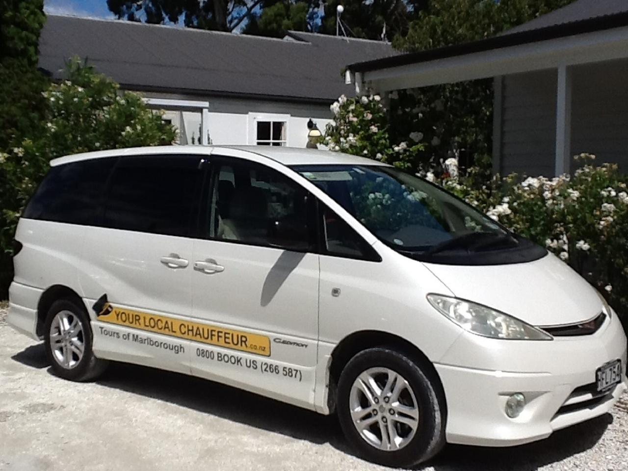 Chauffeur Tour Transfers from Blenheim or Picton - Top of The South Island NZ