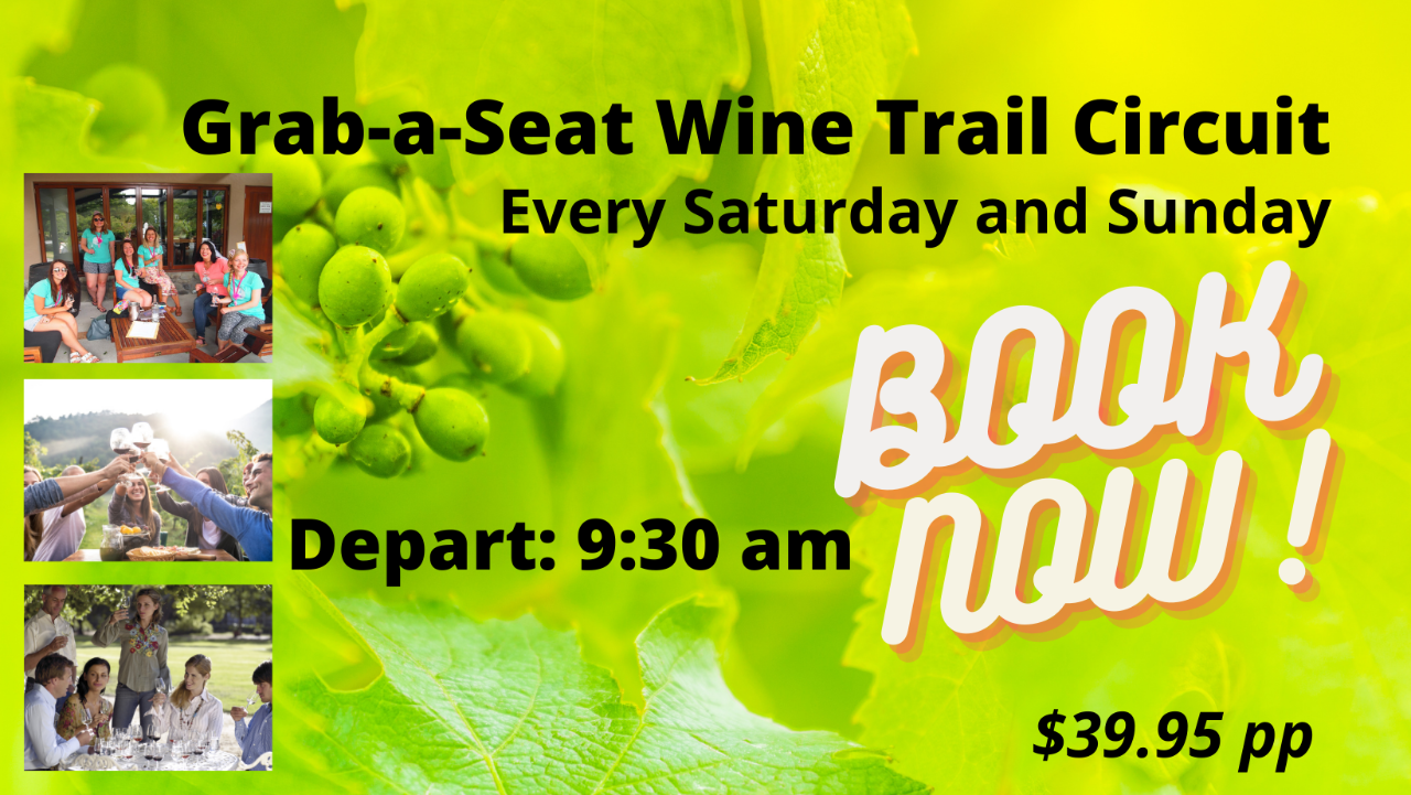Grab a Seat Wine Circuit Tasting in Marlborough 9:30 am