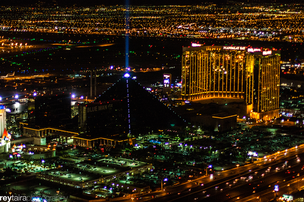 Las Vegas Strip Helicopter Tour with tickets to the Nathan Burton Comedy Magic Show