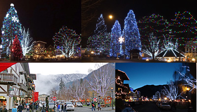 Christmas Town Lighting Leavenworth 2017