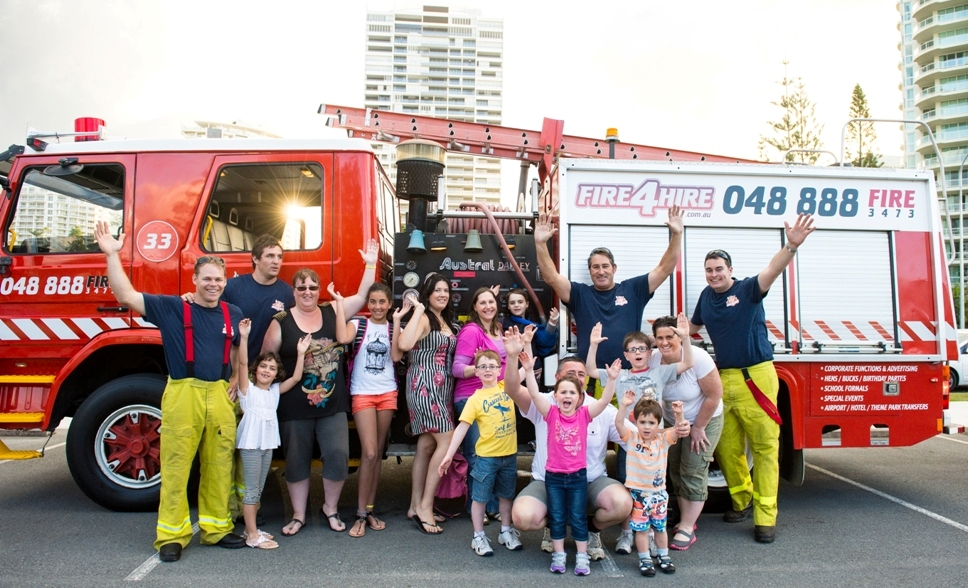 fire truck tours paradise resort gold coast reservations