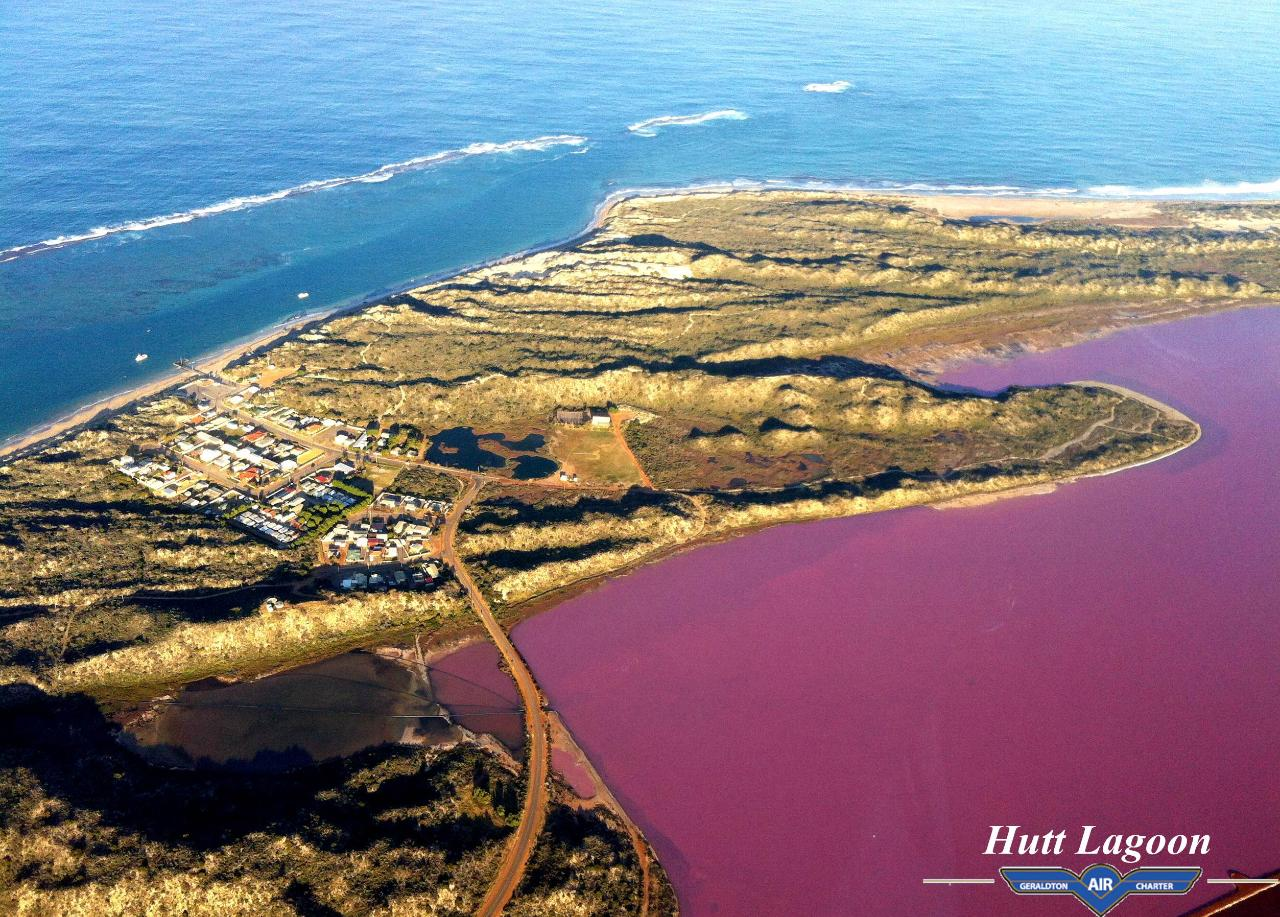 Pink Lake Flyover Tour