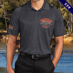 Polo Shirt - Paddlesteamers - Heath Black - Adults