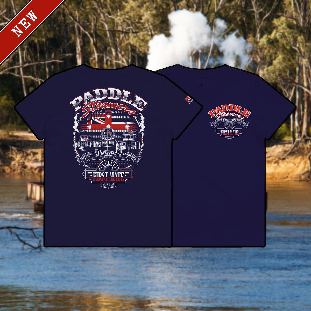 T-Shirt - Paddlesteamers Navy Kids