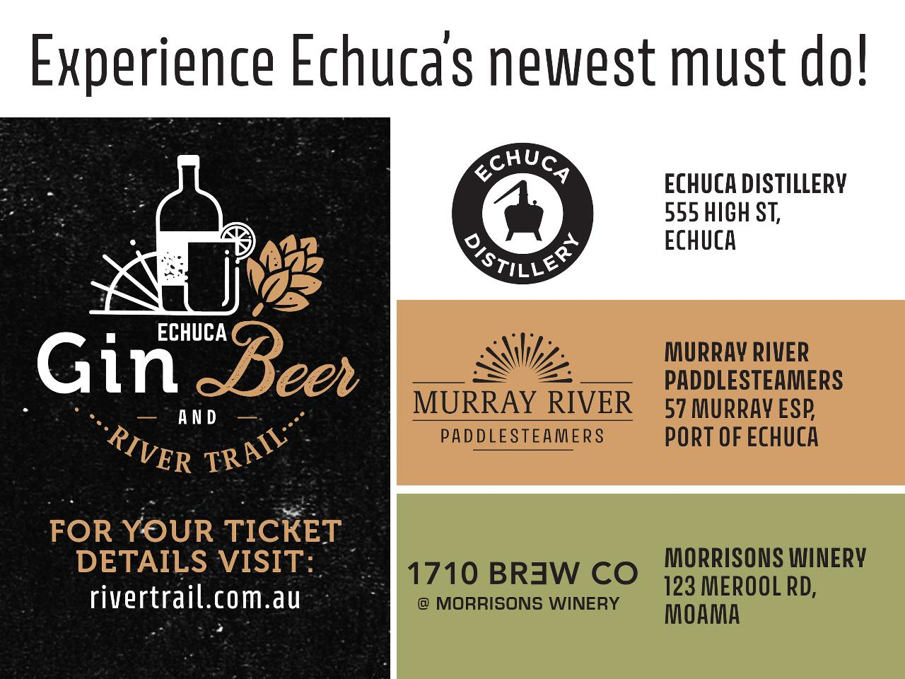 Echuca Gin, Beer & River Trail