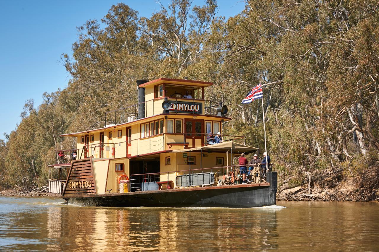 PS Emmylou Cruises  Murray River Echuca 7 Hour Cruise