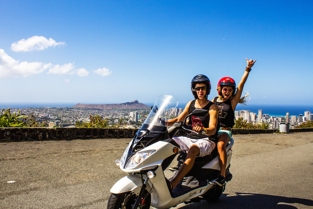 Cruiser Scooter Rental 200cc Motorcycle License Required Hawaiian