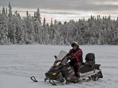 Bog Pond / Franconia Notch Tour (Single Rider Snowmobile / Guided)