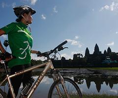 Nicole, Sarah & Susan Cycle Angkor to the Sea