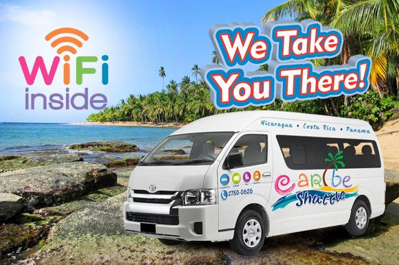 Caribe Shuttle San Jose to Congo Bongo Ecolodges Manzanillo