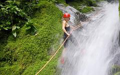 Selva Bananito Rappel additional to (platform or waterfall)
