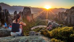 Majestic Sunset on Meteora Rocks Tour