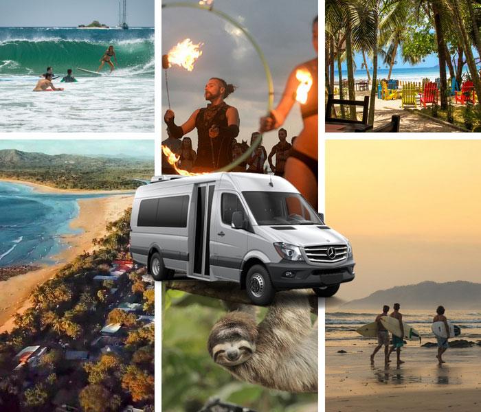 Playas del Coco to Tamarindo Condo Rentals and Hotels - Private Transportation Services