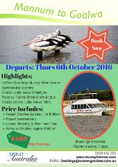 One Day Murray River Cruise - Mannum to Goolwa (departs from Goolwa, by coach)